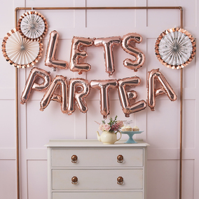 Ginger Ray -  Balloon Bunting - Let'S Part Tea