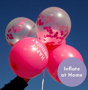 Pink Happy Birthday Confetti Balloons