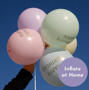 Pastel Happy Birthday Balloons