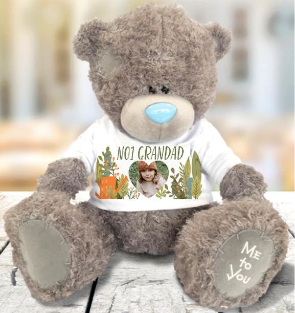 No.1 Grandad Photo Upload Bear