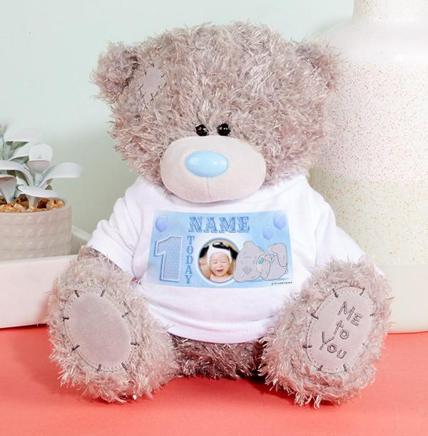 1st Birthday Tatty Teddy Bear for Boy