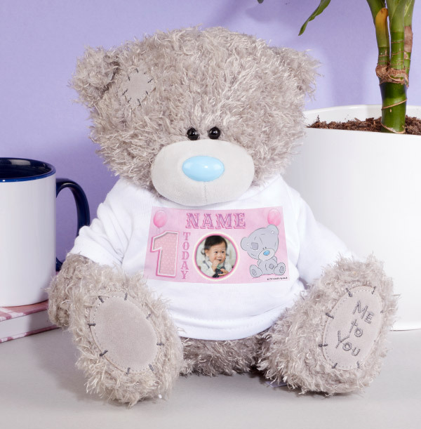1st Birthday Tatty Teddy Bear for Girl