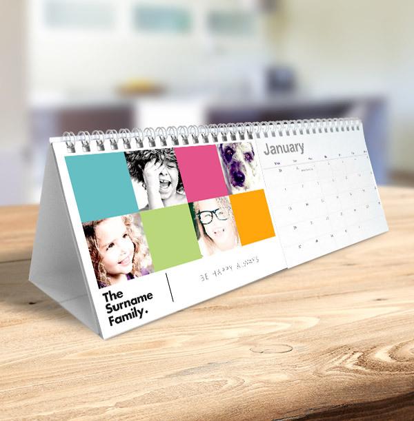 Colour Block Personalised Photo Calendar