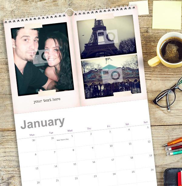 Personalised Memories Photo Collage Calendar