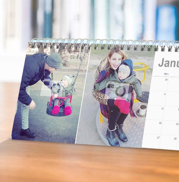 Double Photo Upload Calendar