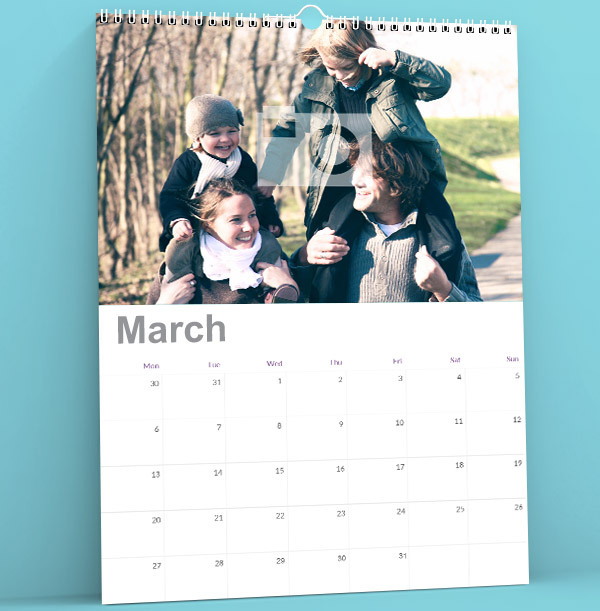 Single Photo Upload Calendar