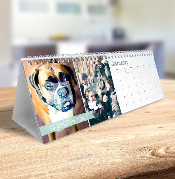 Photo Collage & Banner Text Personalised Calendar