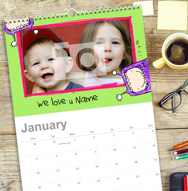 Personalised Photo Calendar for Kids