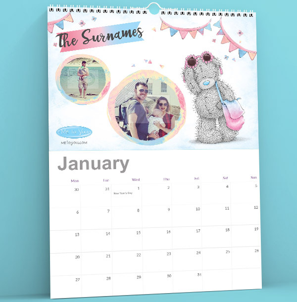 Me to You Tatty Teddy Personalised Photo Calendar