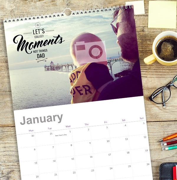 Adventure Personalised Photo Calendar