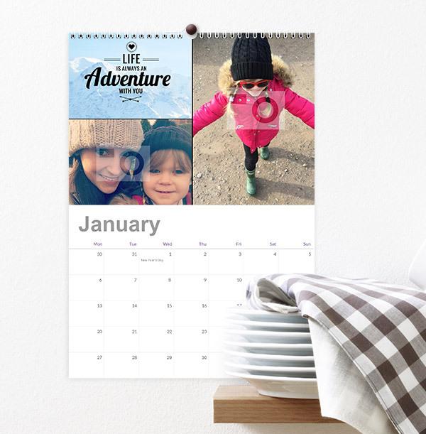 Mother & Daughter Personalised Photo Calendar