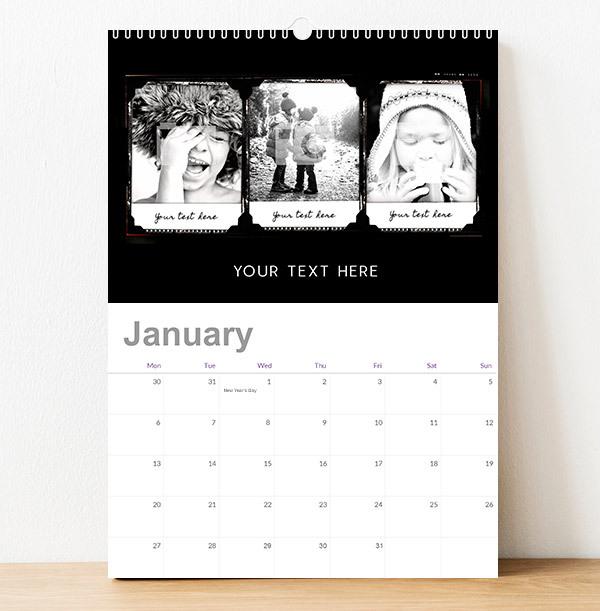 Retro Photo Collage Calendar