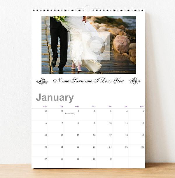 Personalised Photo Wedding Calendar