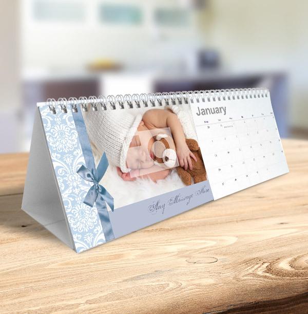 Ribbon Personalised Photo & Text Calendar