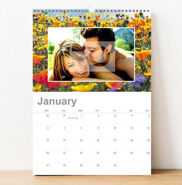 Seasonal Background Personalised Photo Calendar