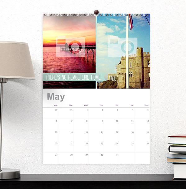 Full Photo & Text Personalised Calendar