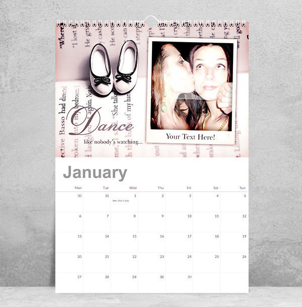 Motivational Personalised Photo Calendar for Her