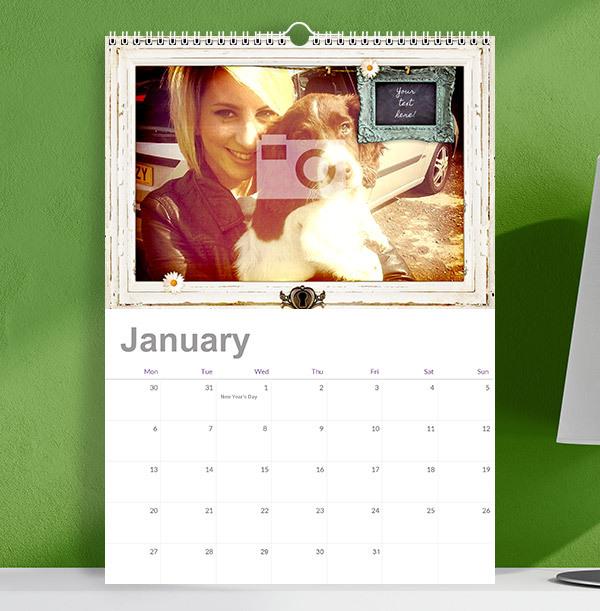 Personalised Memories Photo & Text Calendar