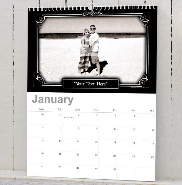 Silent Movie Retro Personalised Photo Calendar