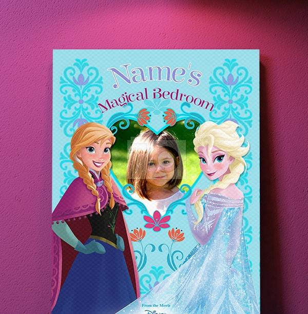 Frozen Magical Bedroom Photo Canvas