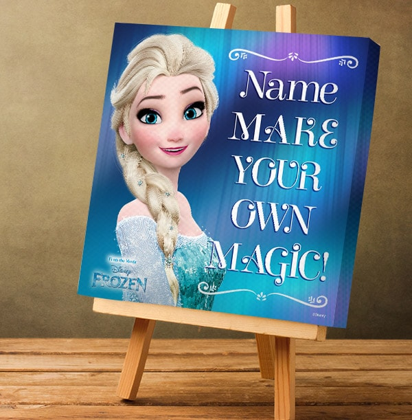 Frozen Elsa Personalised Canvas