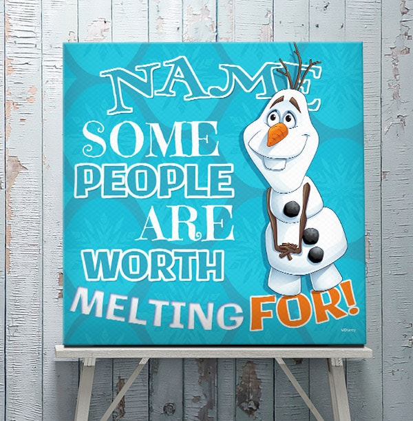 Frozen Olaf Personalised Canvas