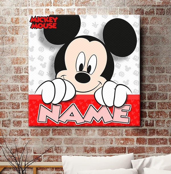 Mickey Mouse Personalised Canvas