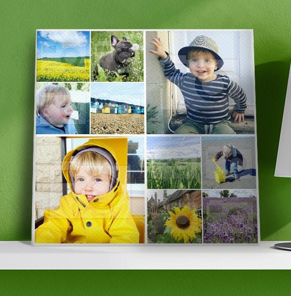 10 Photo Collage Canvas Print - Square