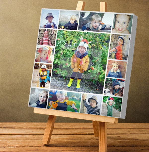 15 Photo Collage Canvas Print - Square