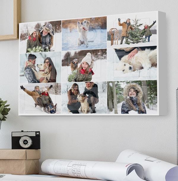 9 Photo Collage Canvas Print - Landscape