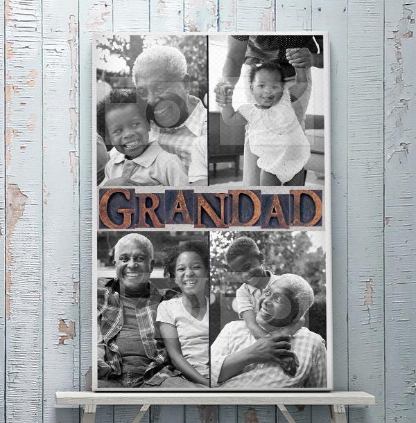 Grandad Photo Canvas - Portrait
