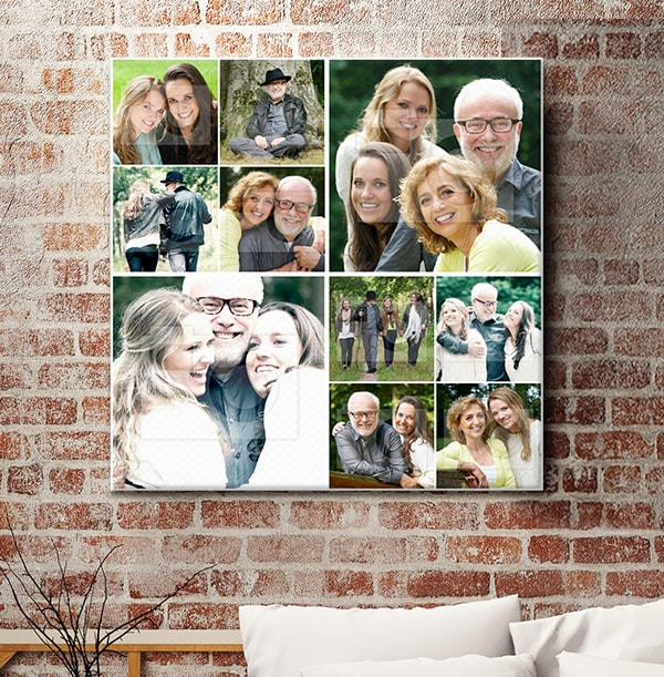 10 Photo Canvas for Dad - Square