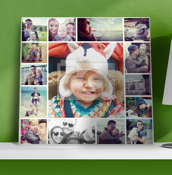 15 Photo Canvas for Dad - Square