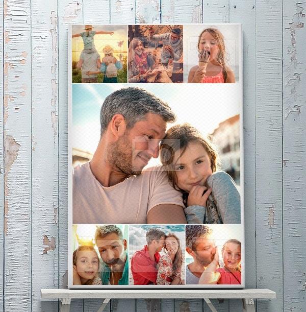 7 Photo Canvas for Dad - Portrait