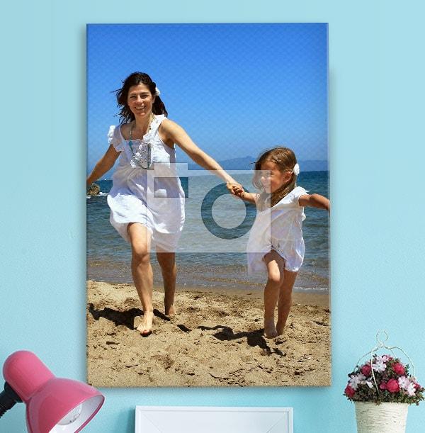 Square Photo Canvas Print with Black Edge