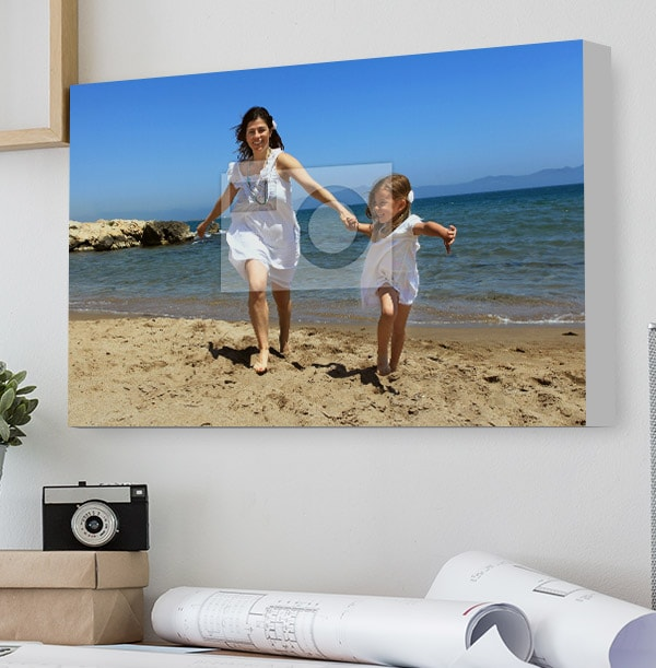 Photo Canvas Print - Landscape With White Edge