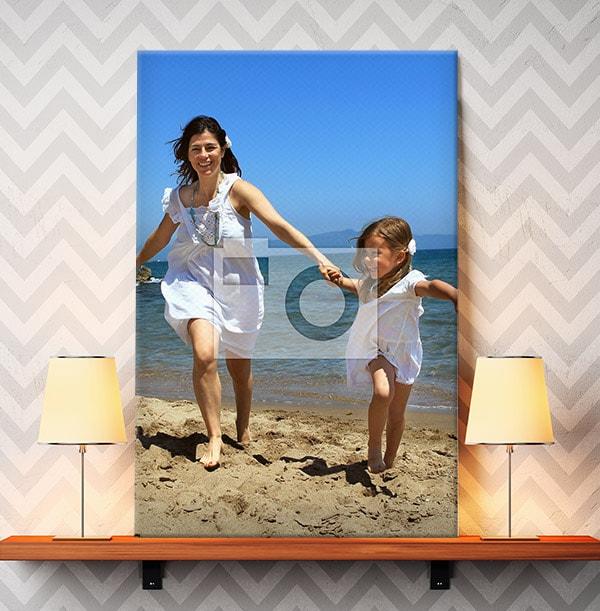 Full Photo Canvas Print - Portrait, White Edge
