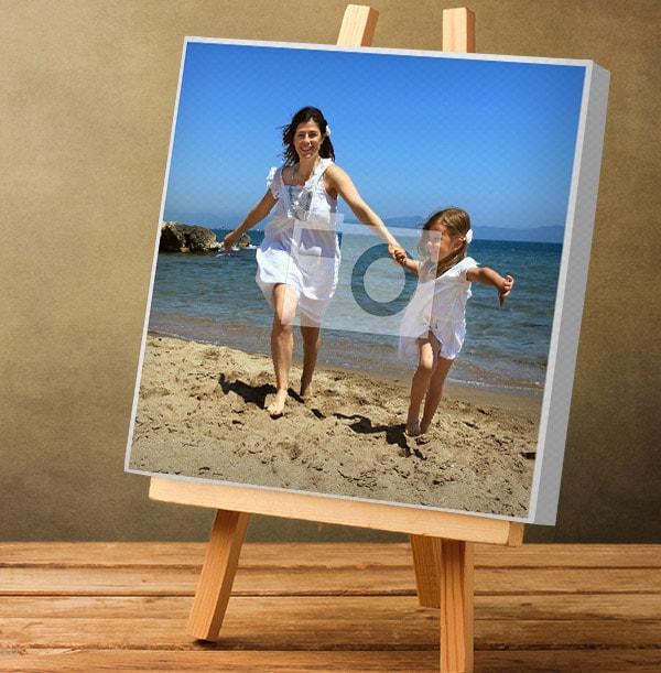 Square Photo Canvas Print with White Edge