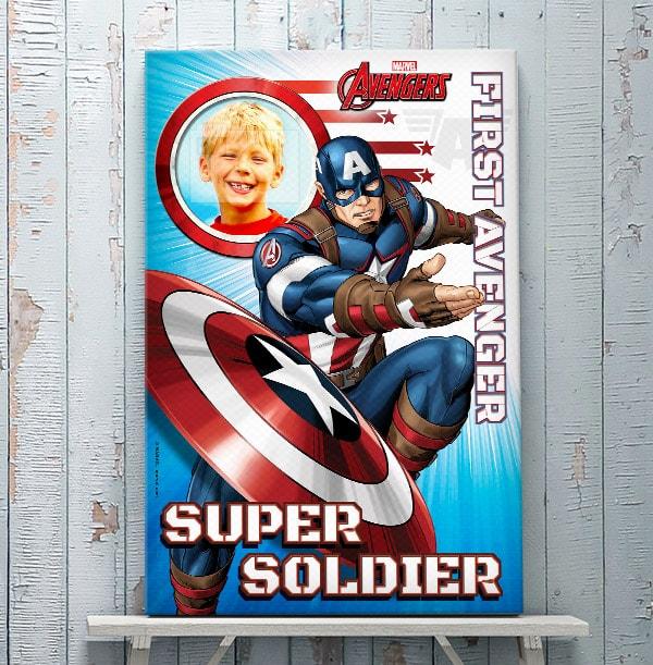 Captain America Photo Canvas