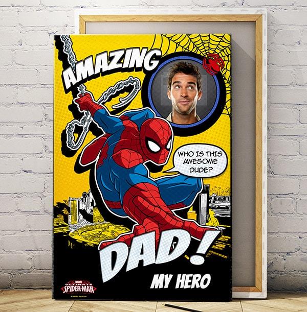 Spiderman My Hero Photo Canvas
