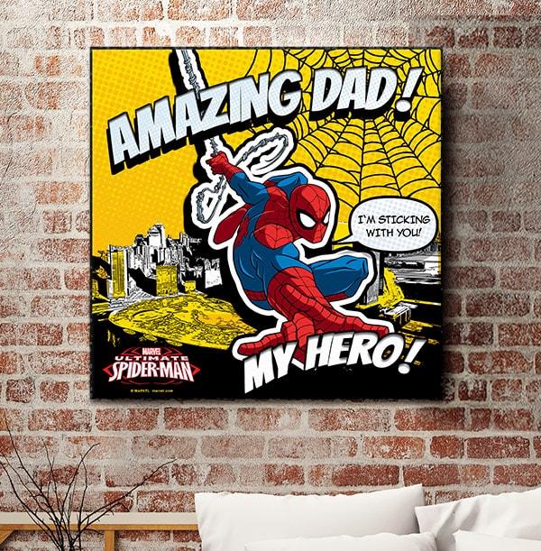 Spiderman Amazing Dad Personalised Canvas