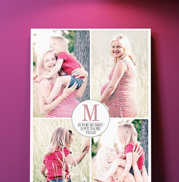 Personalised Canvas Print for Mother's Day - Portrait