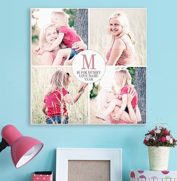Personalised Canvas Print for Mother's Day - Square
