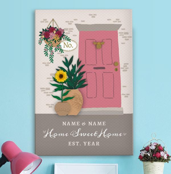 Home Sweet Home - Portrait Canvas Print