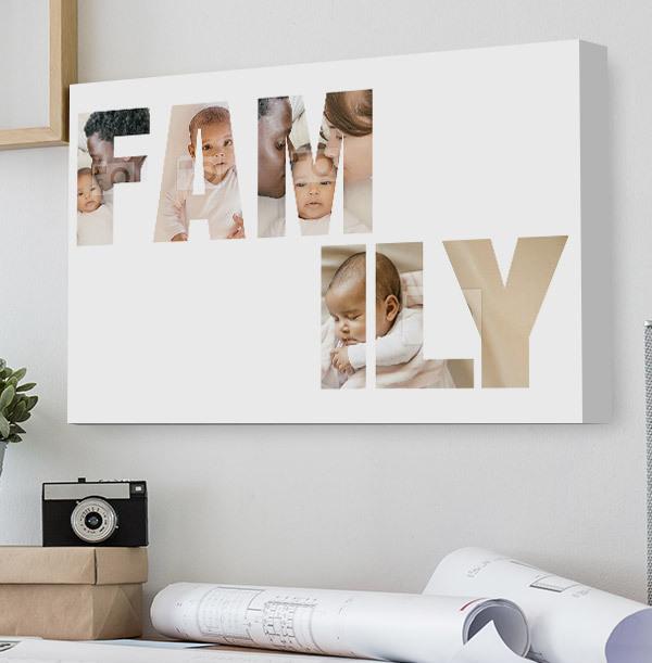 Multi Photo Family Canvas - Landscape