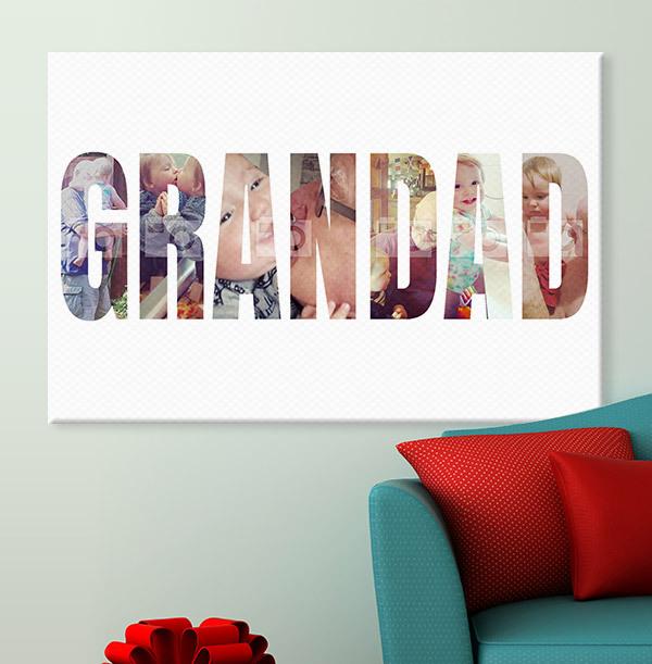 Multi Photo Grandad Canvas - Landscape