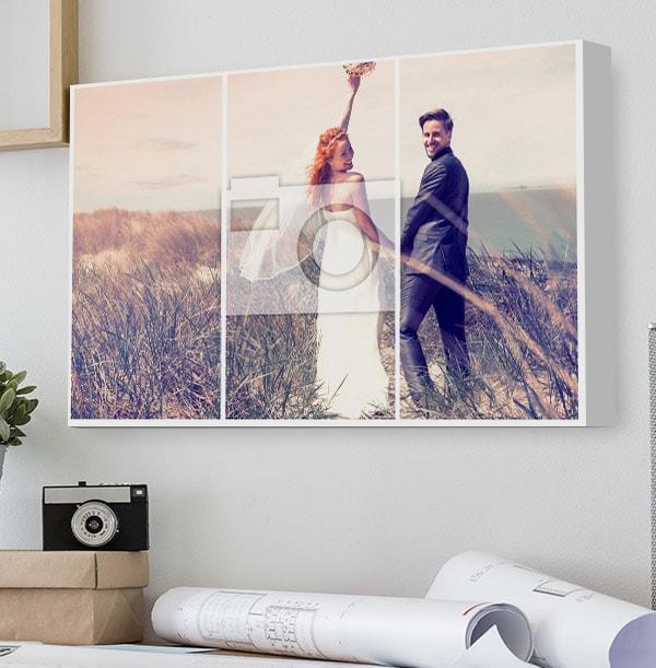 Landscape Split Photo Canvas Print