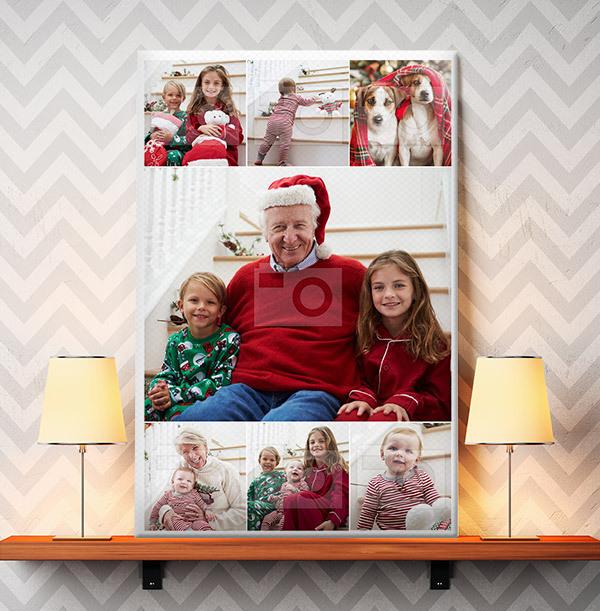 Christmas Multi Photo Canvas - Portrait