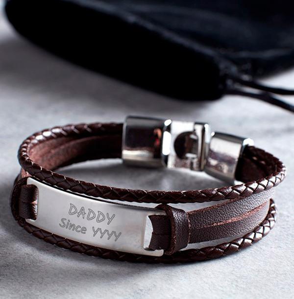 Daddy Since Personalised Men's Bracelet