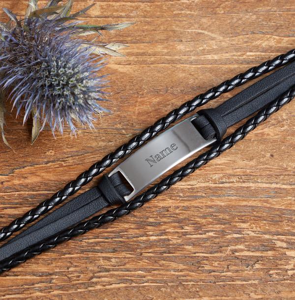 Personalised Name Men's Bracelet